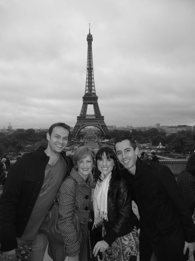 The four of us infront of the Eiffle Tower
