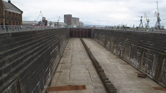 Dry docks used for the Titanic in Belfast